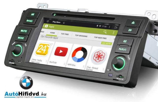 új, BMW 3 E46, M3 ('98-'06) Gyári Kinézetű Android-os Multimédia
