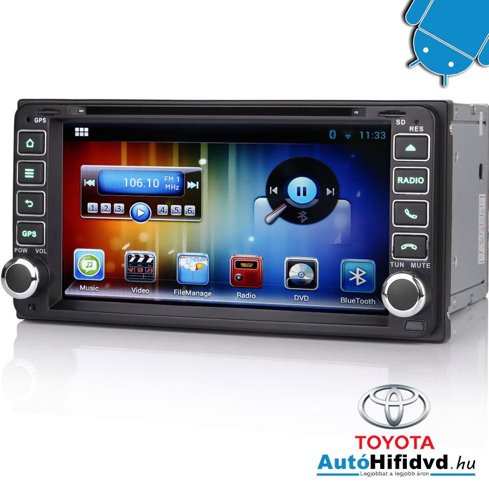 Toyota RAV4, Corolla EX, Vios, Hilux, Terios, Land Cruiser 100, Fortuner, RunX Gyári Kinézetű Android AutóHifi
