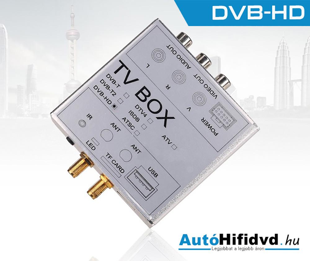 Új, Digitális TV Adapter Doboz (•HVB-HD, •TV antenna és Digitális TV Tuner) www.autohifidvd.hu /autóhifi, márka specifikus autós multimédia/