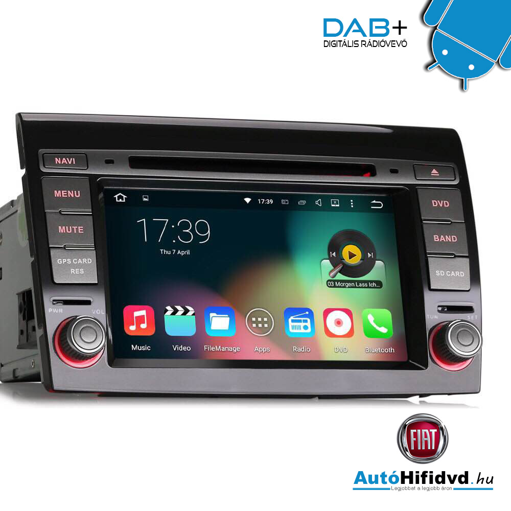 "Wifi Kamera Android >> új, FIAT BRAVO 2007-2014 Márka Specifikus AutóHifi Multimédia (•Android •7""colos HD Kijelző •2 ..."